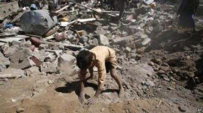 Almotamar Net - Saudi aggression warplanes pounded on Thursday citizens houses in Saada province, using internationally banned cluster bombs. 